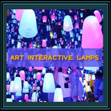 Art interactive lamps