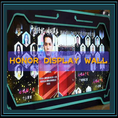 Interactive honor display wall