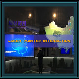 Laser pen physical interaction