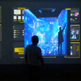 3D media display touch Wall
