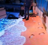 Holographic projection Ocean waves