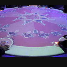 Circular interactive table
