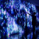 Immersive interactive projection-light show
