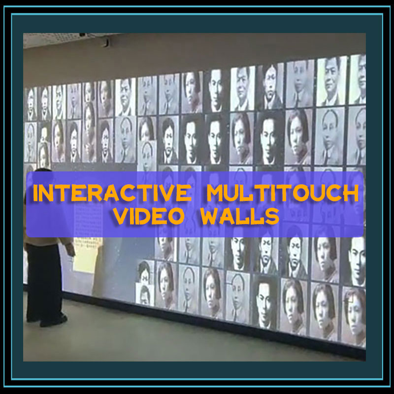 Interactive Multitouch Video Walls