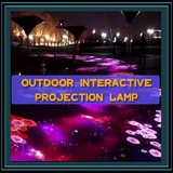 Outdoor interactive projection lamp